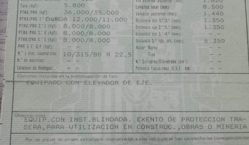 Usado Leciñena 2 EJES RUEDA DOBLE BALLESTA 1990-2000 completo