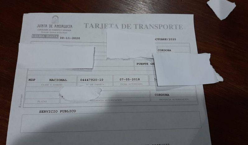 TARJETA DE TTES TARJETA TTES 2011